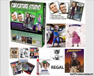 Portable Caricature Studio Green Screen v3.6