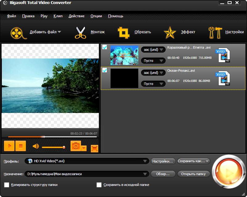 Bigasoft Total Video Converter 4.2.2.5198 Rus Portable by Invictus