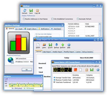 NetWorx Portable 5.0.3 - для учета интернет-трафика