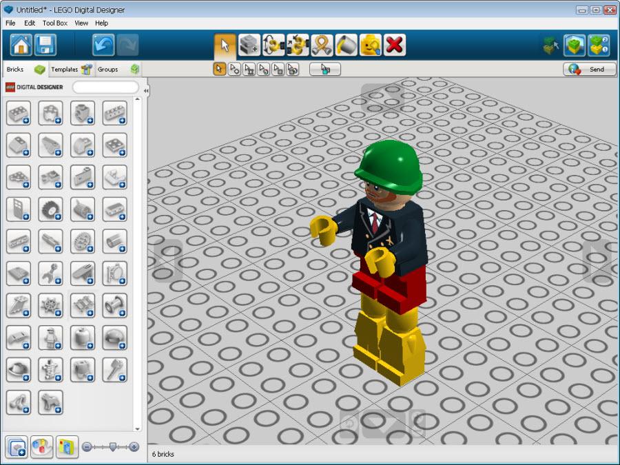 LEGO Digital Designer - Программа представляет собой виртуальный