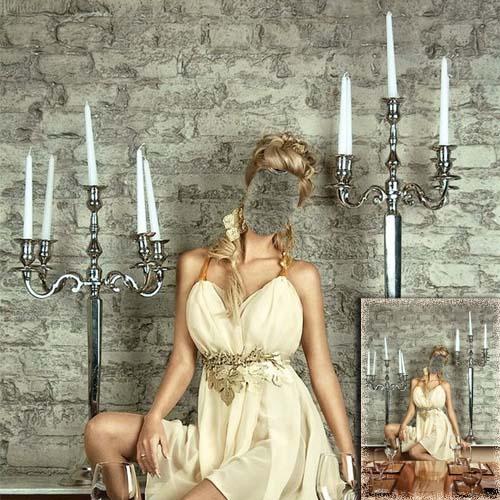 Шаблон женский - Ужин при свечах