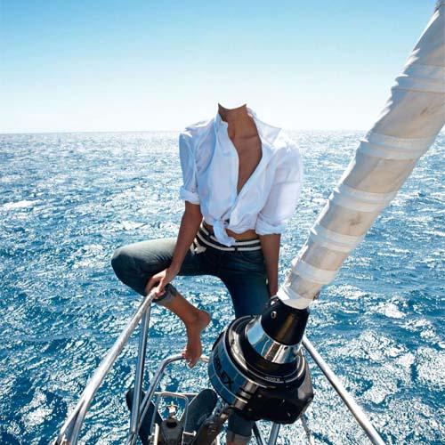 Прокатиться на яхте - шаблон для фотошопа