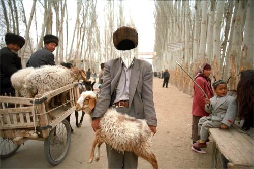 Шаблон psd мужской - Продавец овец
