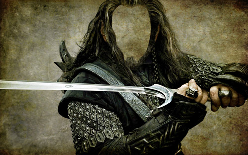 С мечом в руках - Шаблон для мужчин