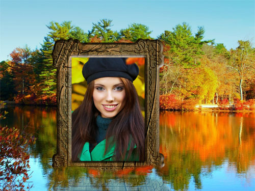 Рамка для фото - Осенняя река