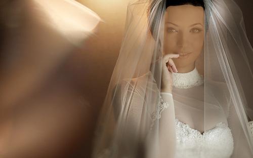 Шаблон женский - Невеста в белом платье