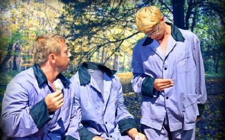 Фотошаблон для мужчин - Сообразим на троих