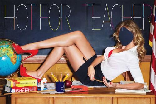 PSD шаблон для девушек - Горячая учительница