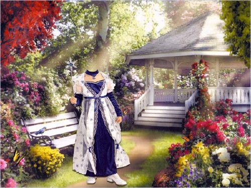 Шаблон для маленьких - В костюме волшебная фея