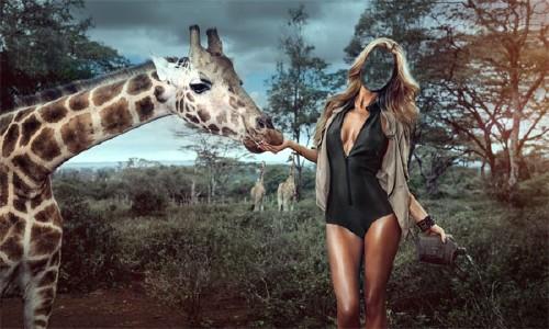 Шаблон для фото - Поездка в Африку