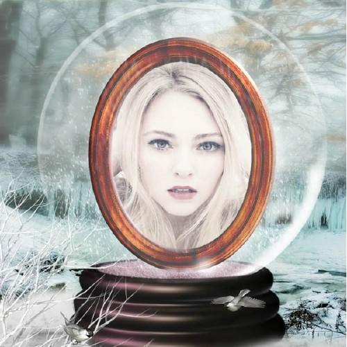 Рамка для фотошопа - В стеклянном шаре