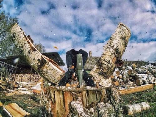 Мужской шаблон - Запасаем дрова