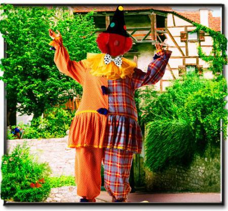 Фотошаблон - Клоун весельчак