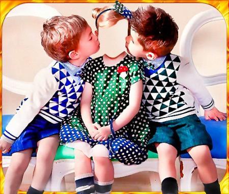 Детский шаблон - Два поклонника